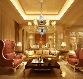 Đèn chùm đồng gốm phòng khách và cách chọn lựa hợp với ghế sofa