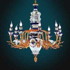 Tư vấn chọn đèn chùm đồng mạ vàng biệt thự trong từng không gian