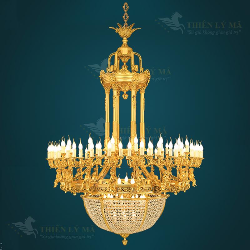 Đèn chùm đồng mạ vàng Châu Âu và những lỗi hay gặp phải