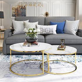 Các không gian có thể sử dụng bàn trà inox phòng khách
