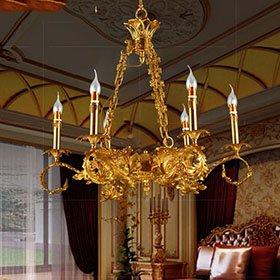 Đèn chùm đồng nến giá rẻ - xu hướng mới trong trang trí nội thất