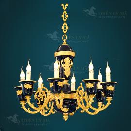 Đèn chùm mạ vàng châu Âu