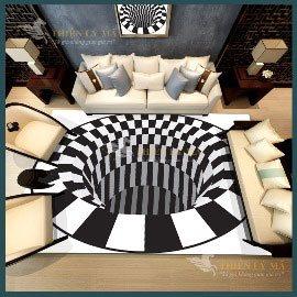 Thảm sofa 3D ấn tượng Aza
