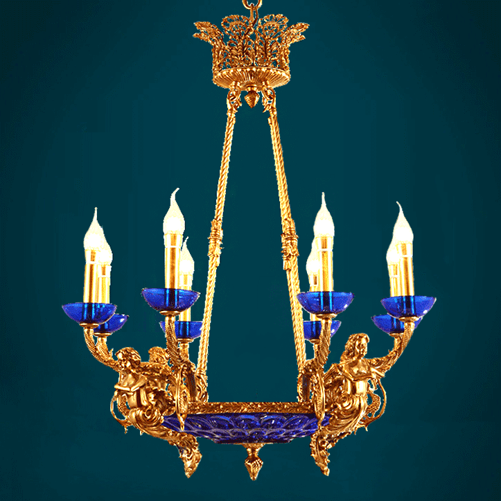 đèn chùm đồng châu Âu
