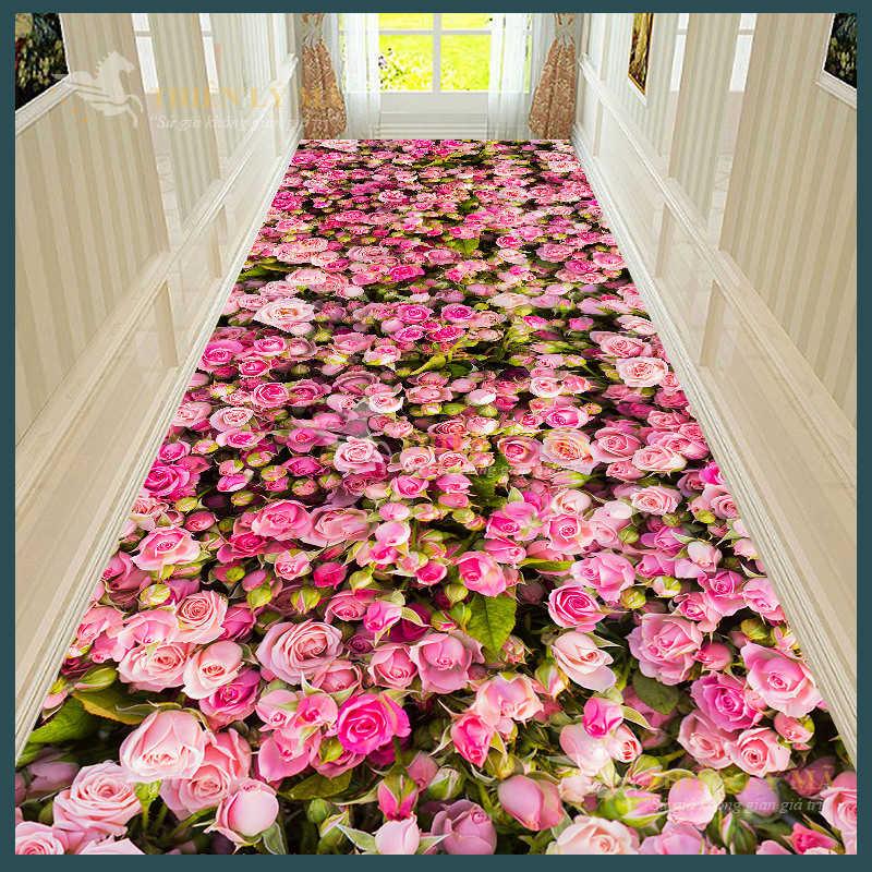 Thảm hoa hành lang 3D độc đáo