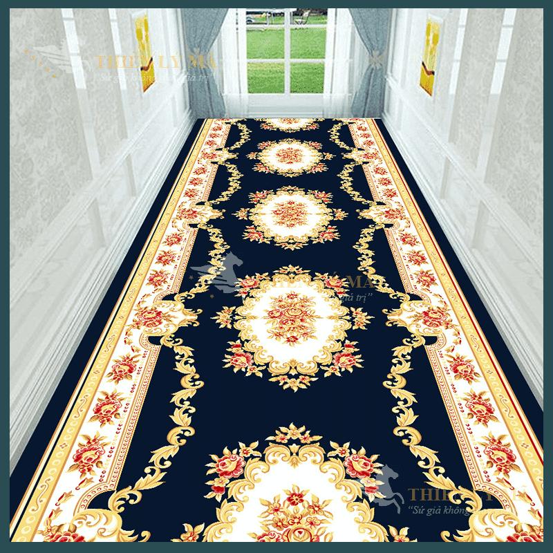 Thảm xanh cổ điển hàng lang tòa nhà
