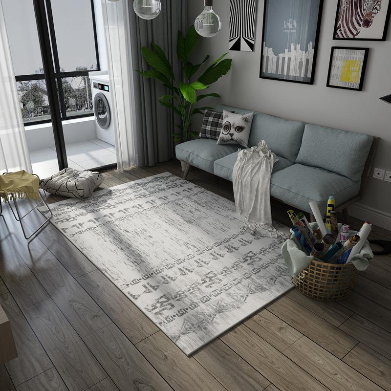 Thảm trang trí sofa màu trắng